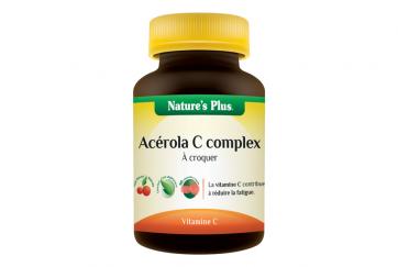 Acerola C Complex Nature's plus pastilles à croquer