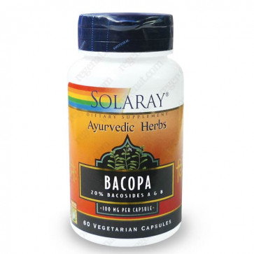 Bacopa Monnieri 100mg standardisé à 20% de Bacosides Solaray