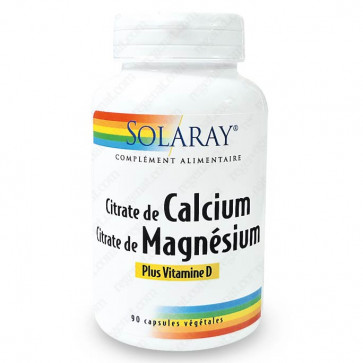 Calcium + Magnésium + Vitamine D Solaray