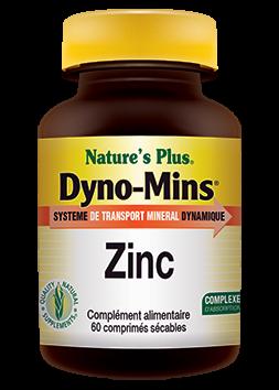 Dyno-Mins Zinc Nature's plus 60 comprimés
