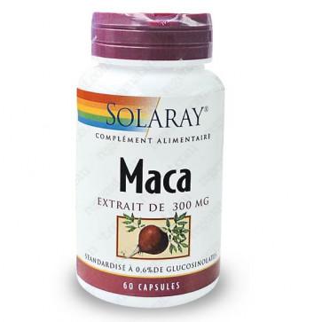 Maca 300mg standardisé à 0,6% de glucosinolates Solaray