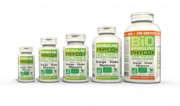 Spiruline Bio Phyco+ pure 100% standardisée 500mg