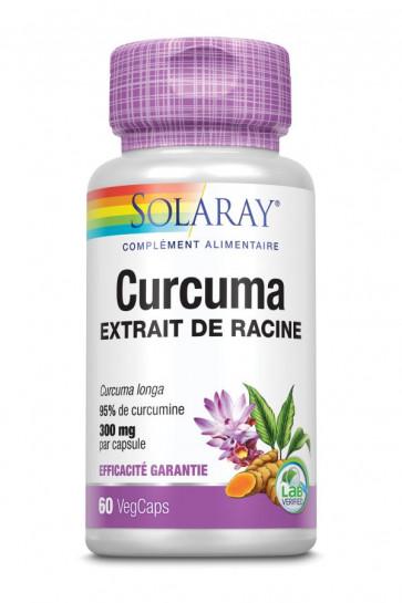 Curcuma 300mg standardisé à 95% de curcumines Solaray