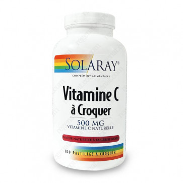 Vitamine C à croquer 500mg Solaray