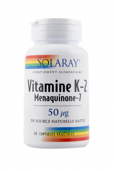 Vitamine K-2 Menaquinone-7 50μg Solaray