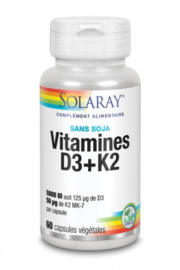 Vitamines D3 + K2 Solaray
