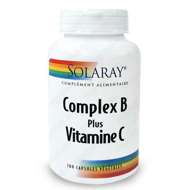 Complex B plus Vitamine C Solaray - Vitamine C - Vitamines