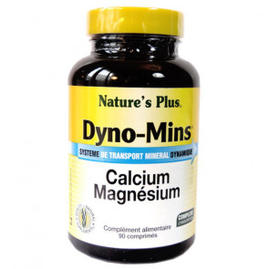 Dyno-Mins Calcuim Magnésium Nature's plus 90 comprimés
