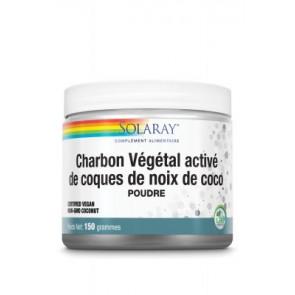 Charbon Végétal activé de coques de noix de coco (poudre) 75 g Solaray