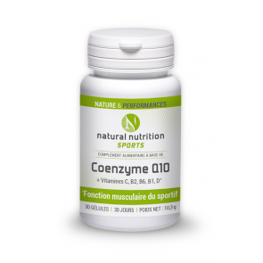 Coenzymz Q10 Natural nutrition sports 30 gélules