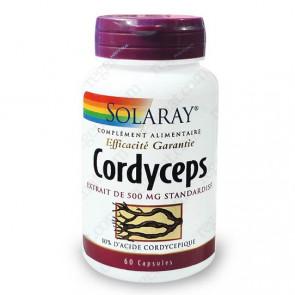 Cordyceps 500mg standardisé à 10% d'acide cordycepique Solaray