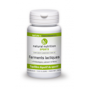 Ferments lactiques Natural nutrition sports 30 gélules