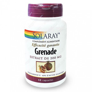 Grenade 200mg standardisé à 40% d'acide ellagique Solaray