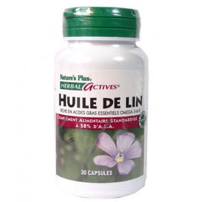 Huile de lin 1300mg Nature's Plus 30 capsules
