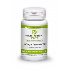 Papaye fermentée Natural nutritions sports 60 comprimés