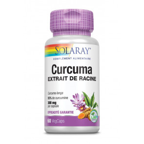 Curcuma 300mg standardisé à 95% de curcumines Solaray