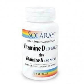 Vitamine D + Vitamine A Solaray