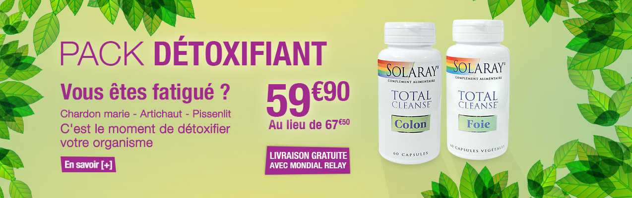 Pack detoxifiant solaray